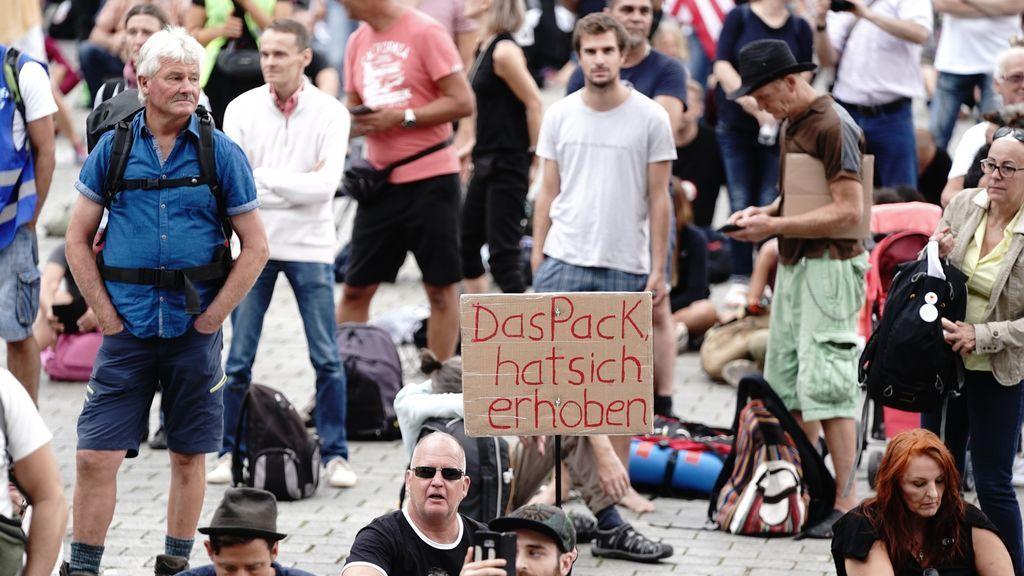 Protestas negacionistas en Austria y Alemania