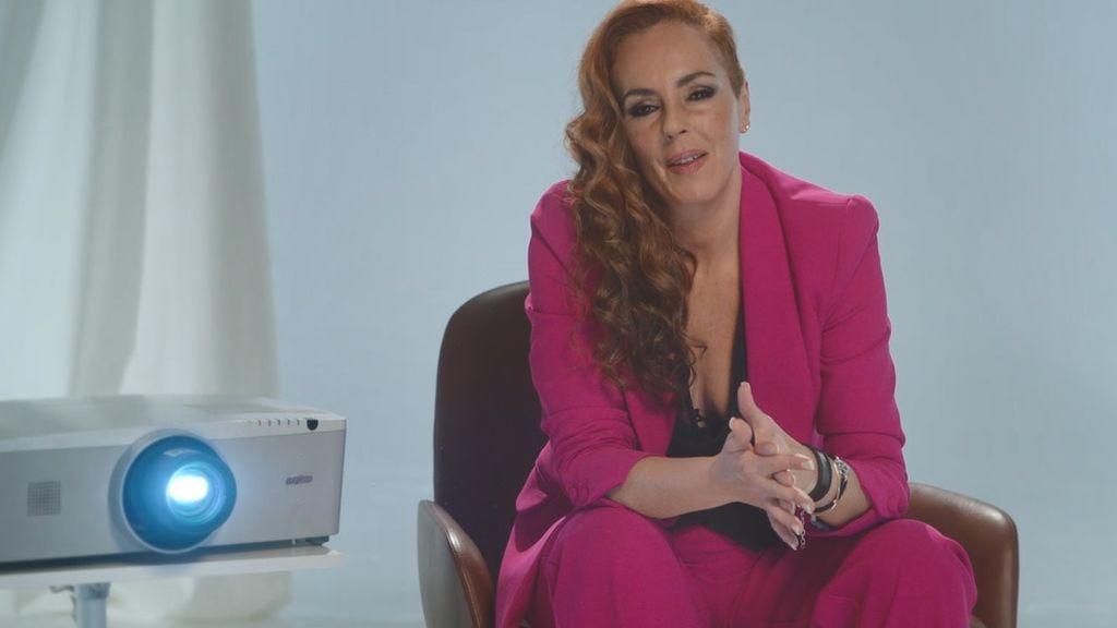 Rocío Carrasco, al principio de la entrevista