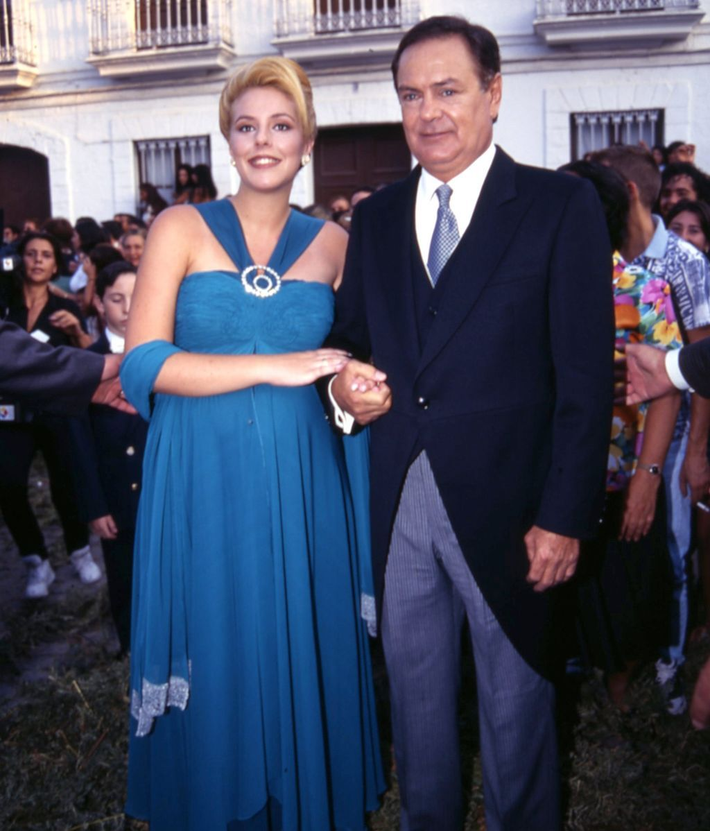 Rocío Carrasco con su padre, Pedro Carrasco