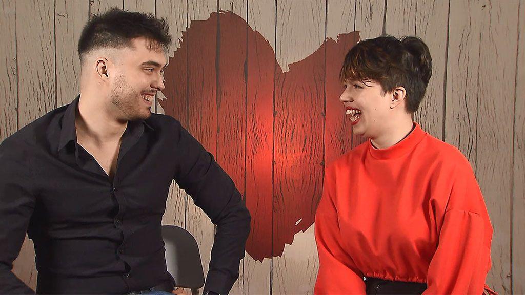 Sarai y Carlos en el programa 'First Dates'