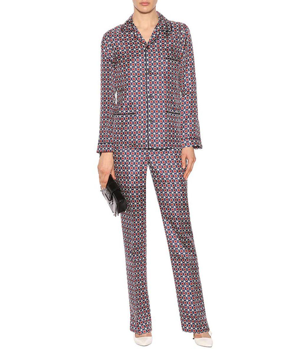 Pijama de seda de Prada