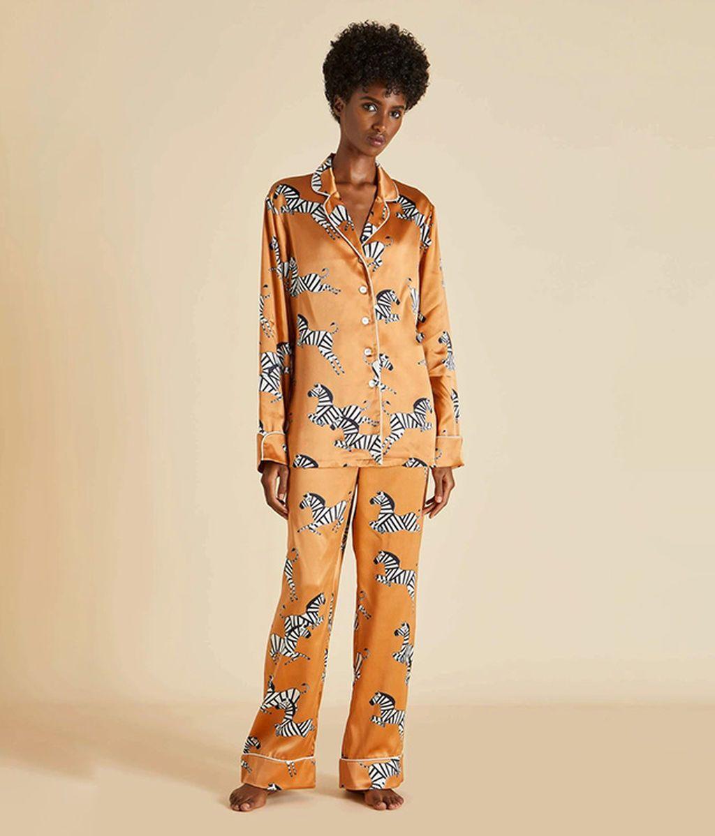 Pijama de seda de Oolivia von Halle