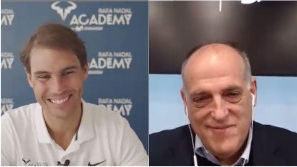 """Rafa Nadal y Javier Tebas se unen """"para exportar la marca España"""""""