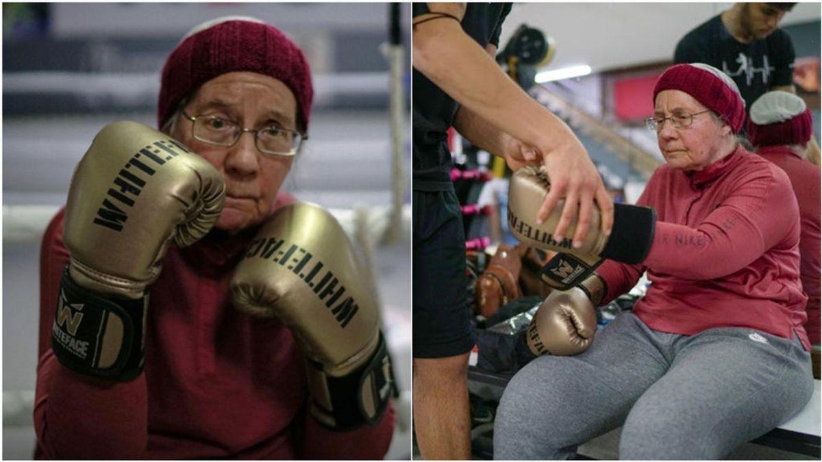 Nancy, la mujer con 75 años que boxea para luchar contra el Parkinson