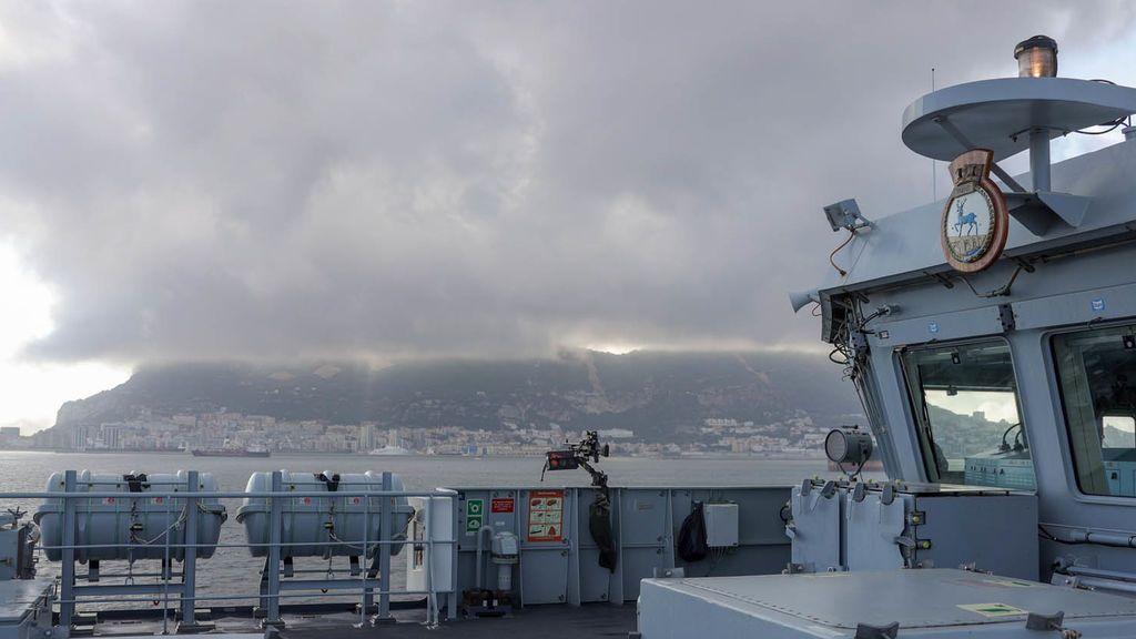 El 'HMS Trent' en una visita a Gibraltar
