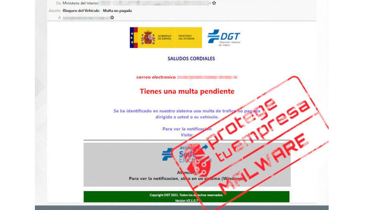 La falsa multa de la DGT que llega a tu mail y que debes ignorar