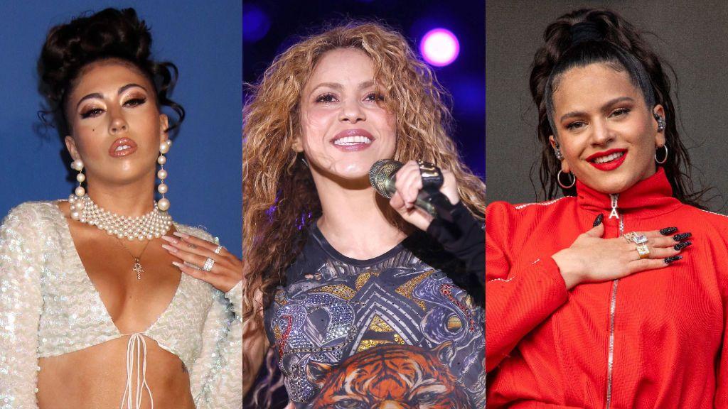 """""""La Santa Trinidad está completa"""": la misma foto que comparten Rosalía, Shakira y Kali Uchis"""