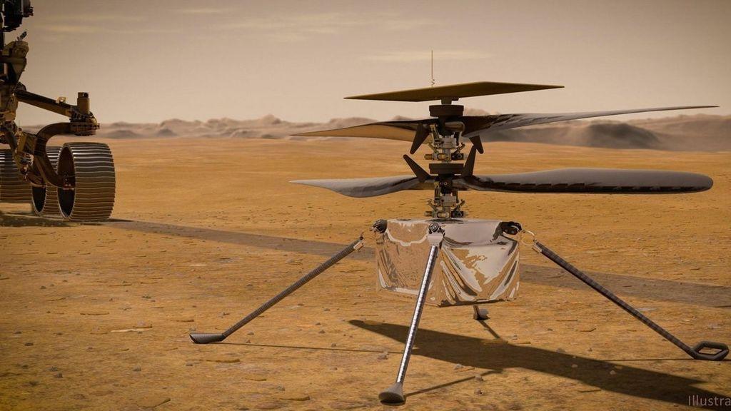 El helicóptero Ingenuity obtiene un primer vistazo de Marte: ¿cuándo estará listo para volar?
