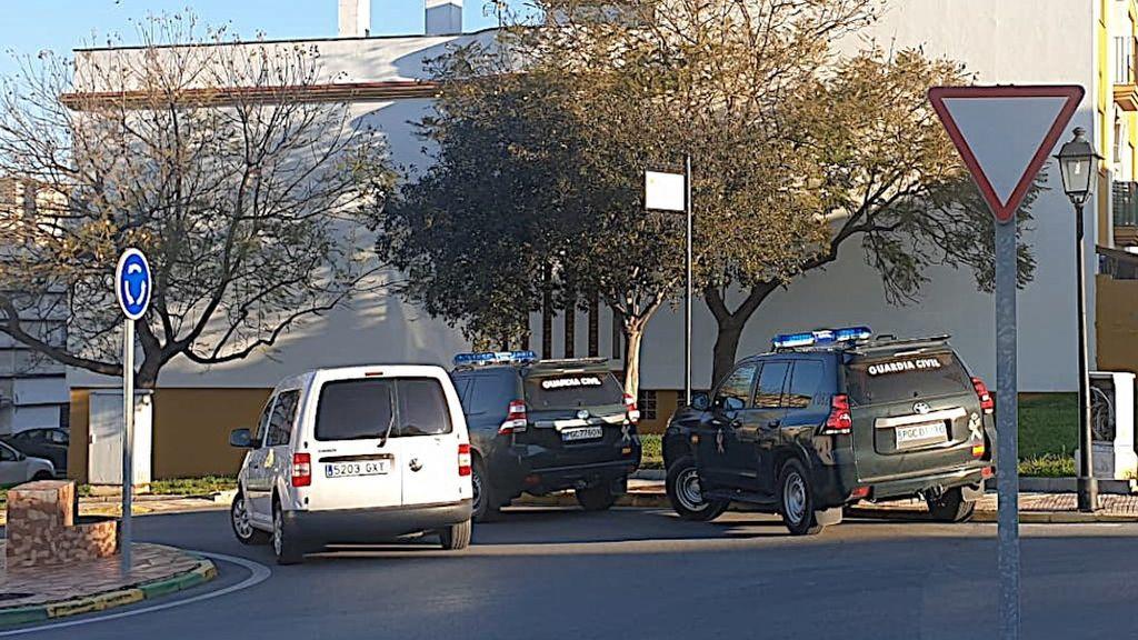 Vehículos de la Guardia Civil en Los Barrios