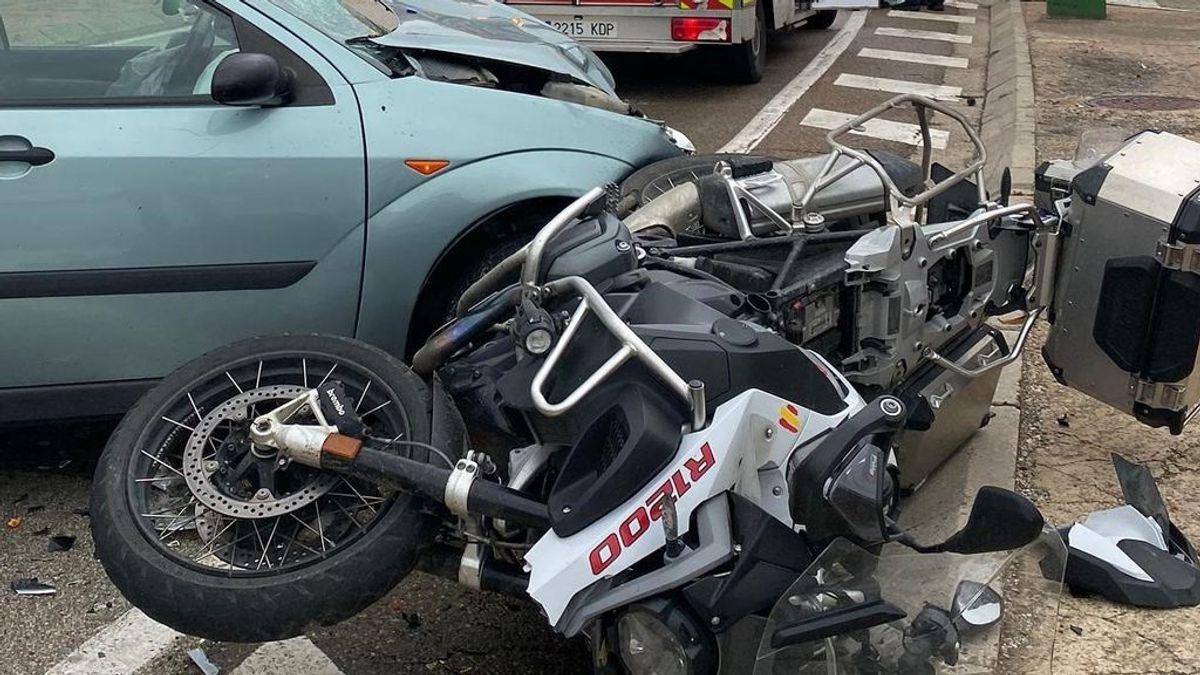Mueren un motorista y un peatón en un atropello en Palencia