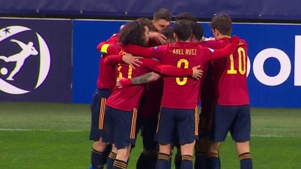 Miranda se suma a la fiesta de España para poner el 0-3 ante Eslovenia