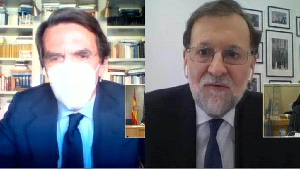 Aznar y Rajoy se desentienden y niegan la caja B del PP