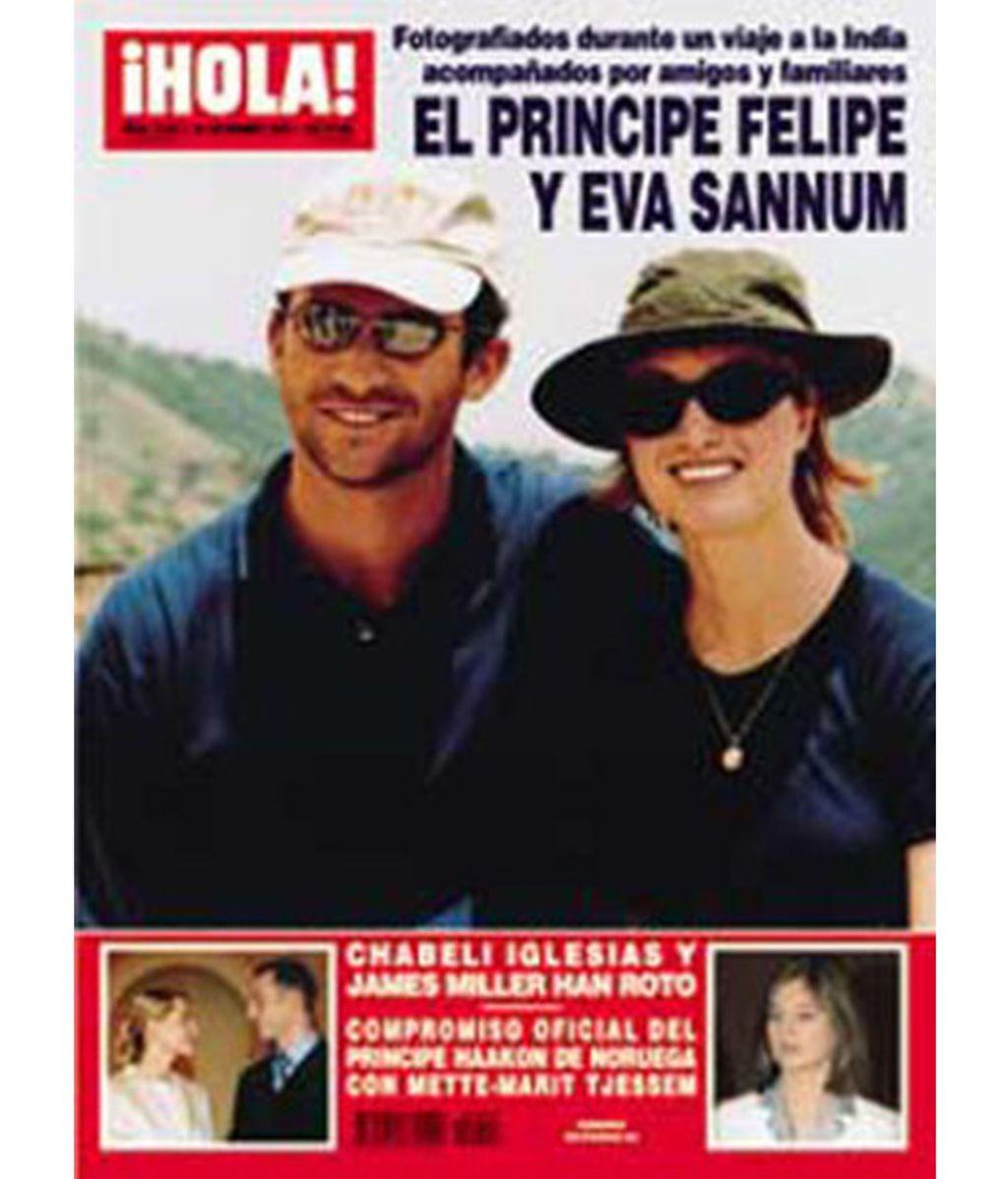El por aquel entonces príncipe Felipe y Eva Sannum en la India