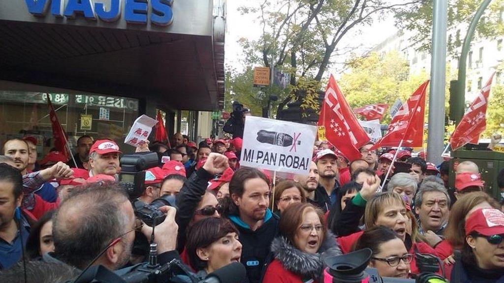 Imagen de una protesta de los trabajadores de Coca Cola