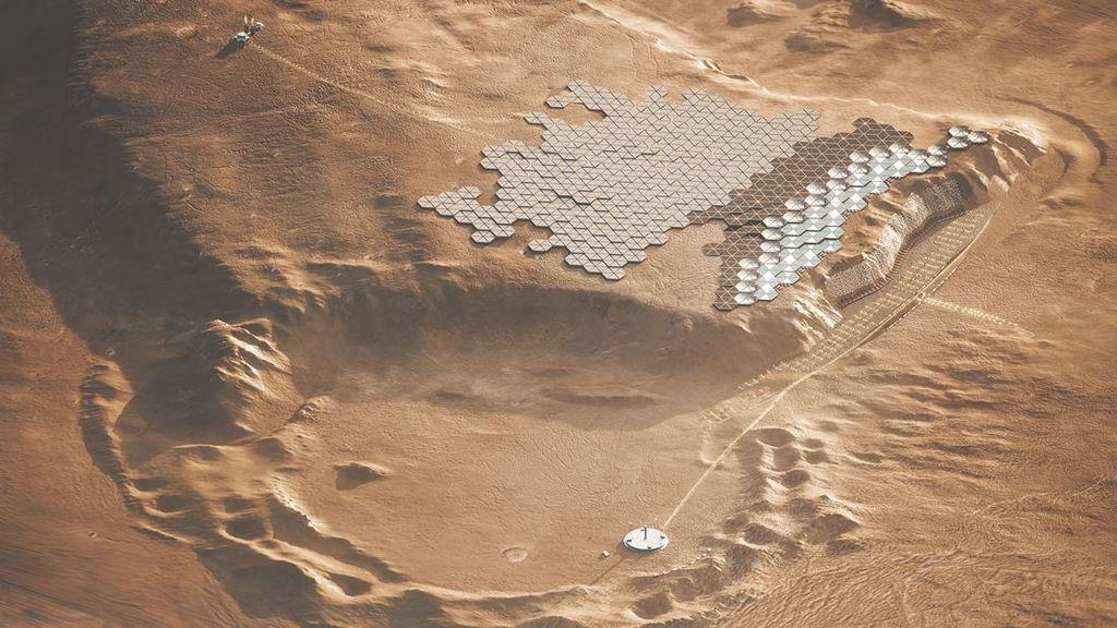 ¿Vivirías en otro planeta? Así podría ser la primera ciudad para humanos en Marte