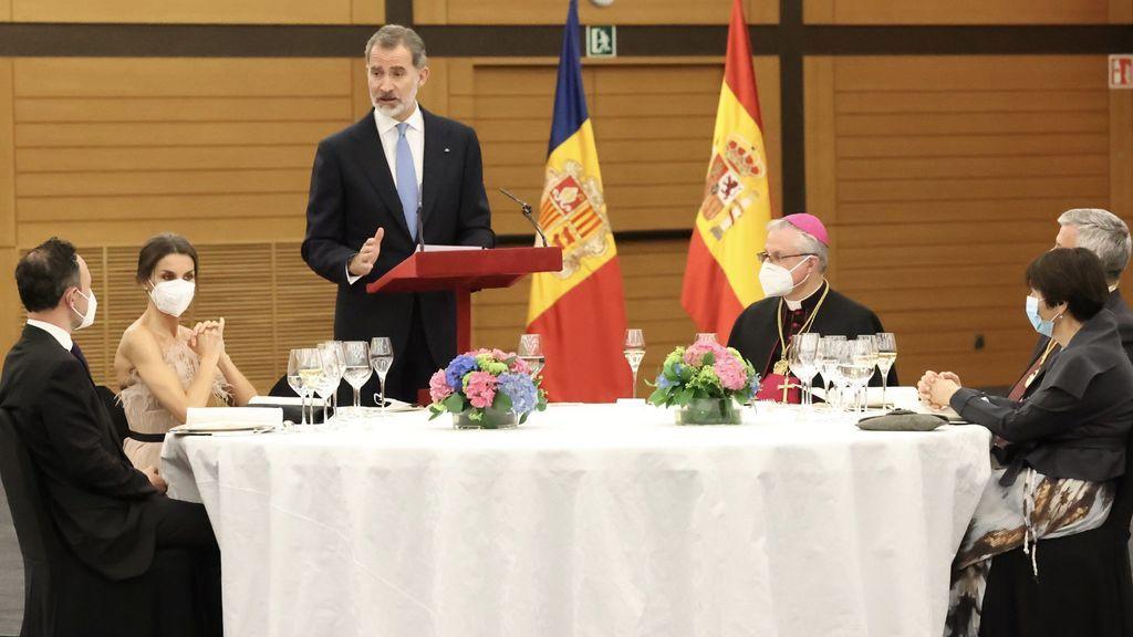 Los reyes, en la cena de honor en Andorra
