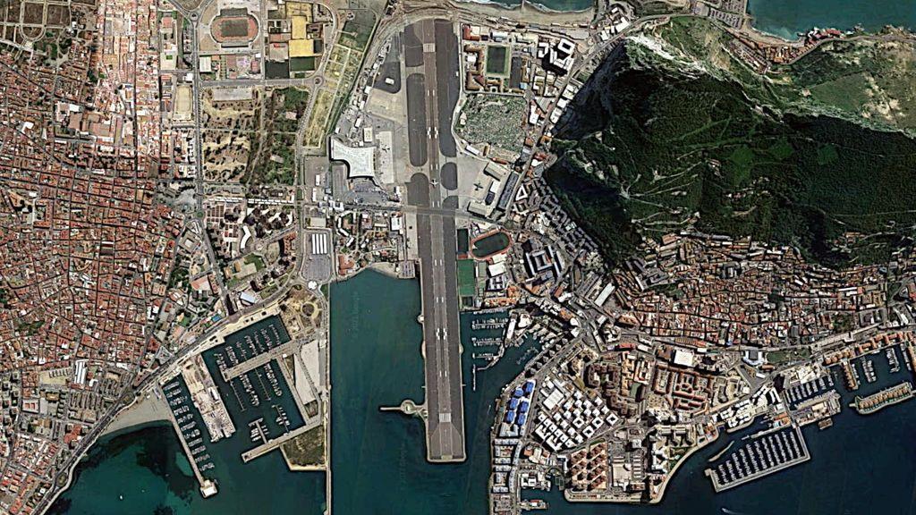 Una vista del aeropuerto de Gibraltar