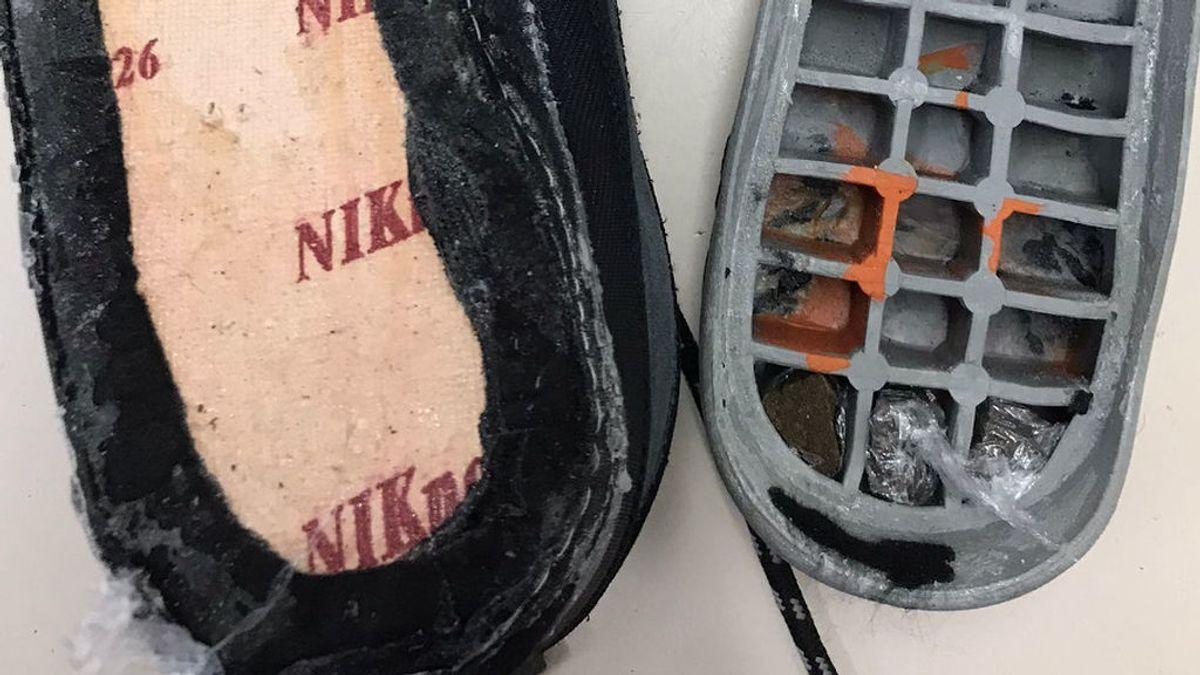 Zapatilla con sorpresa: encuentran droga en la suela de una deportiva dirigida a reclusos de la cárcel de Teixeiro