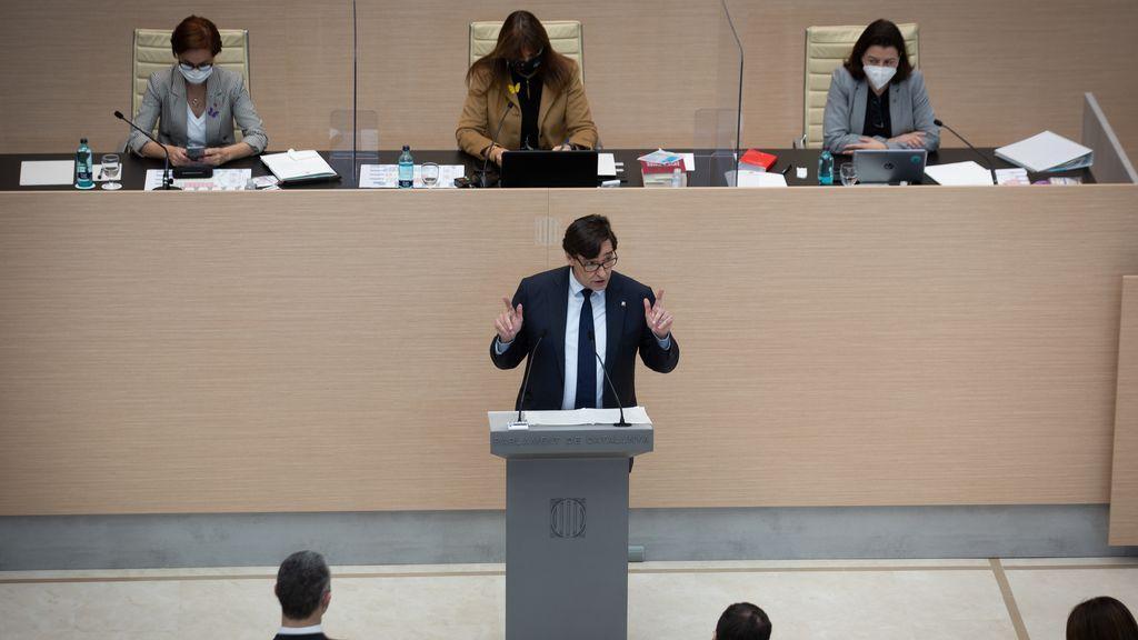 Illa ofrece su ayuda a Aragonès para reactivar la mesa de diálogo con el Gobierno y su apoyo por un pacto por la salud