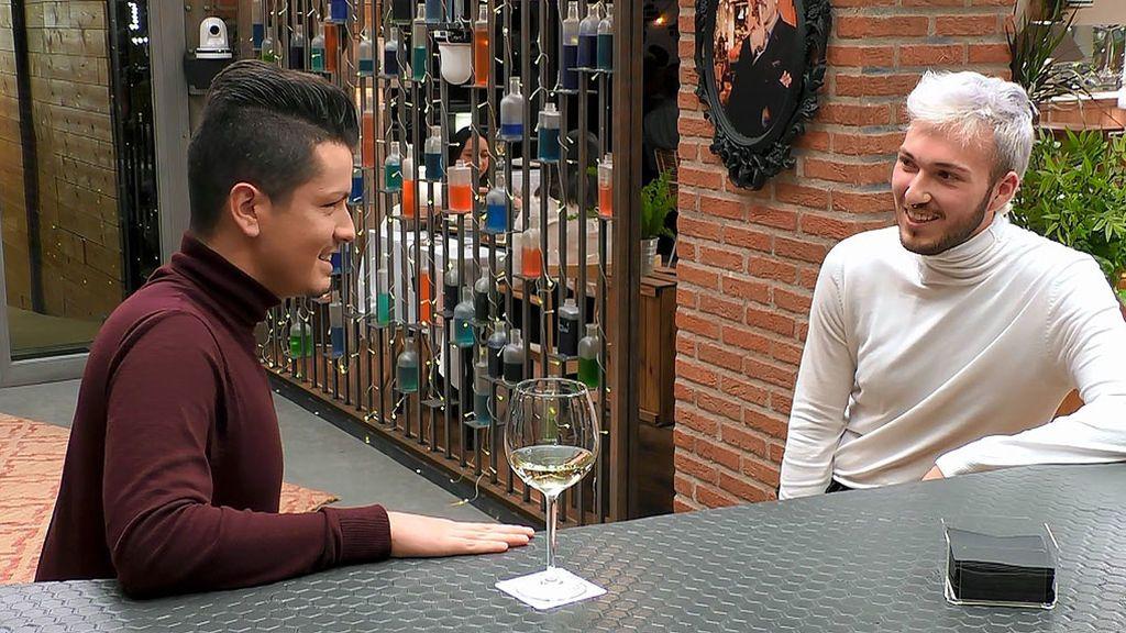 David y Ceferino en el programa 'First Dates'
