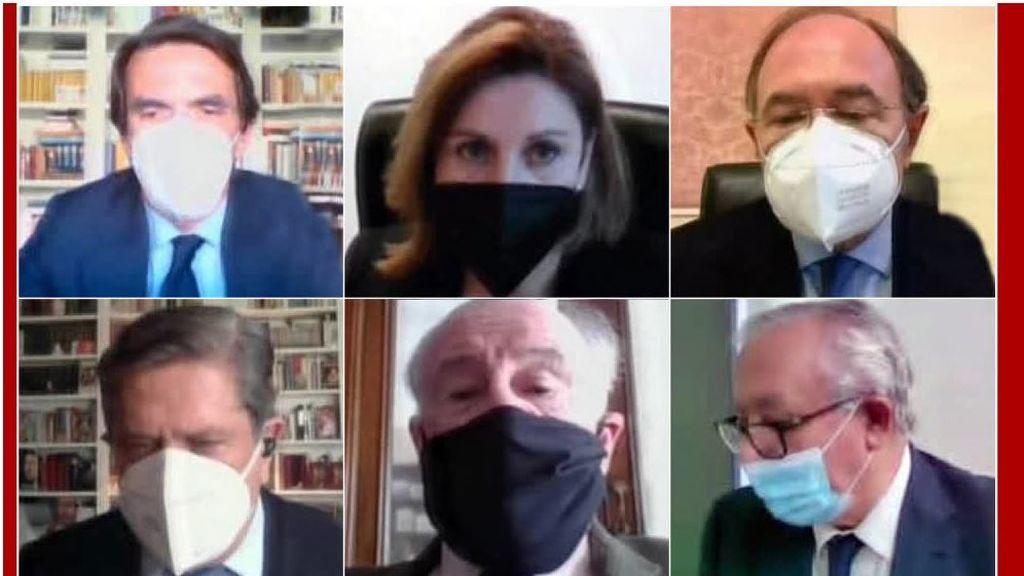 Los exdirigentes del PP, testigos por videconferencia y con mascarilla