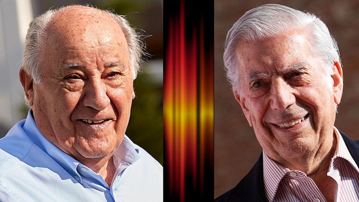 Amancio Ortega y Mario Vargas Llosa