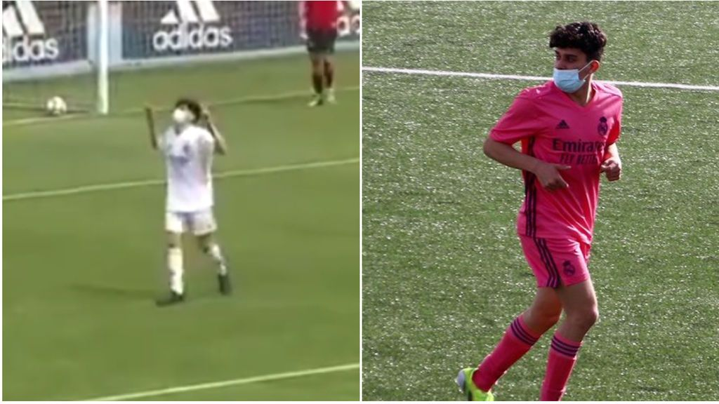 El hijo de Reyes se inventa una cuchara a lo Raúl para marcar el mejor gol de la jornada en la cantera del Madrid