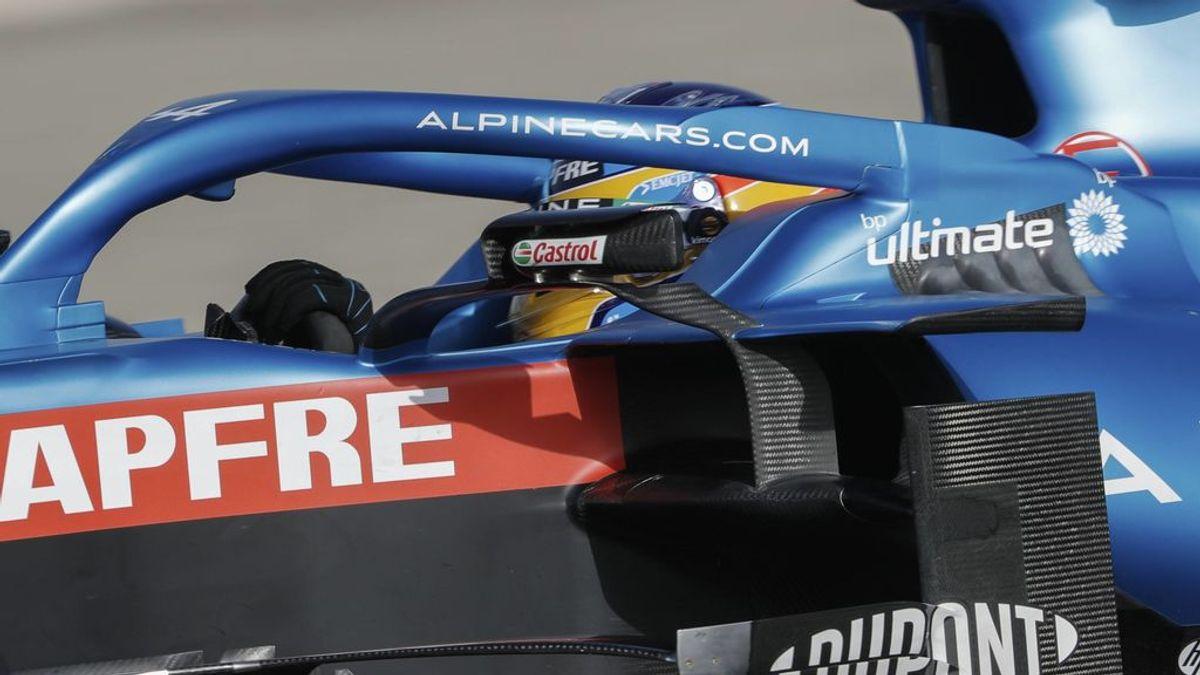 """Fernando Alonso, tras abandonar en su debut: """"Ha sido un buen día"""""""