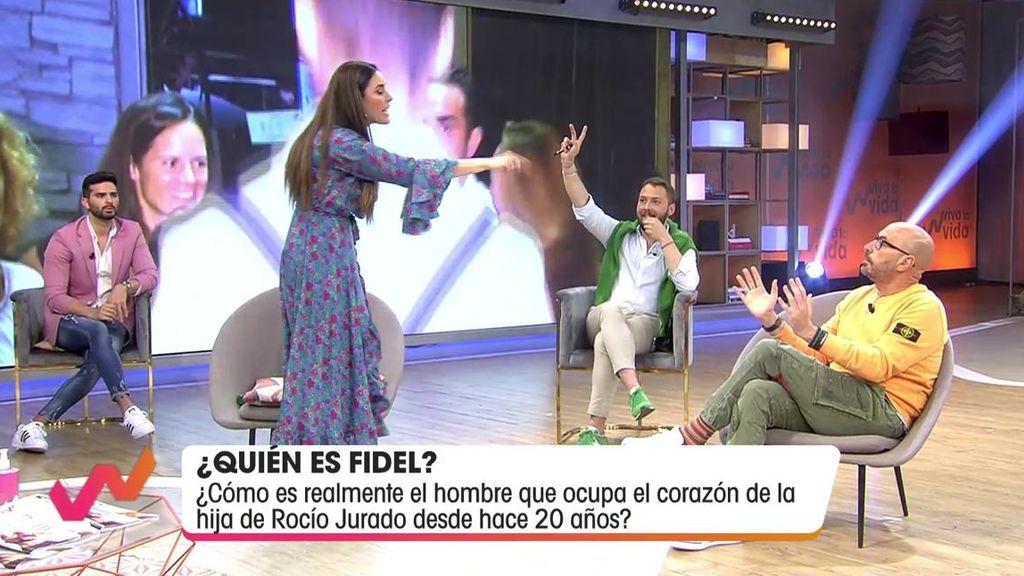 Isabel Rábago se enfada con Diego Arrabal