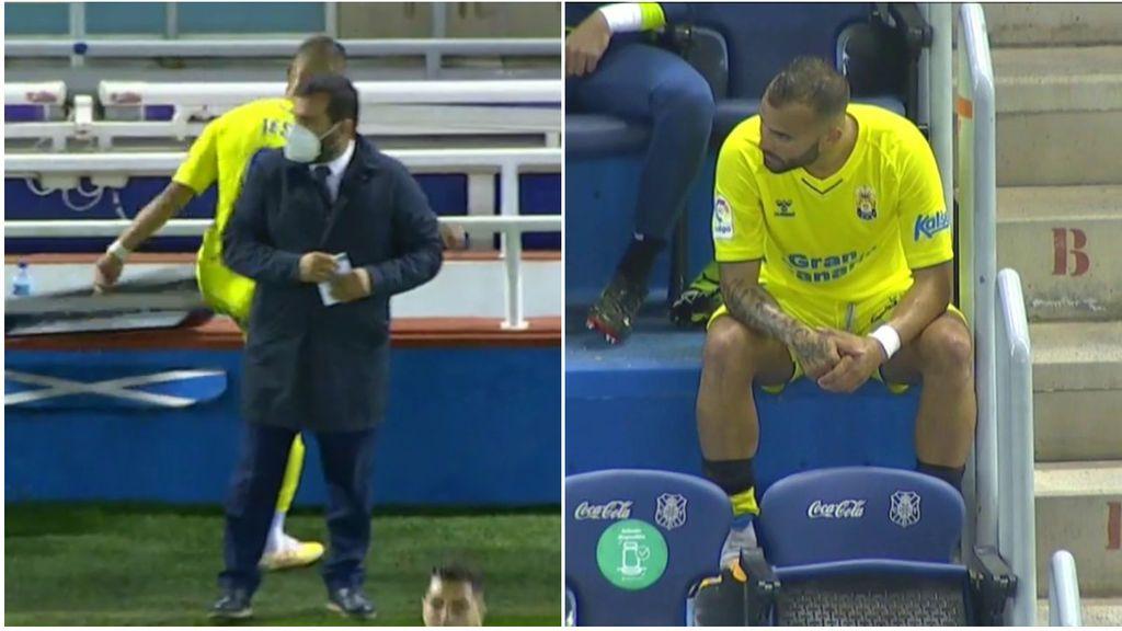La ansiedad desborda a Jesé y termina enfado al ser sustituido en el Tenerife - Las Palmas