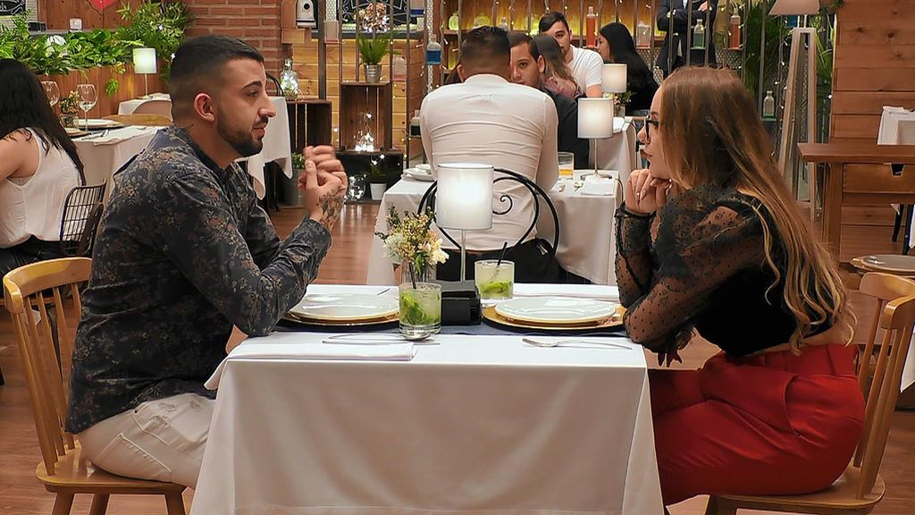 Sergio y Michell en el programa 'First Dates'
