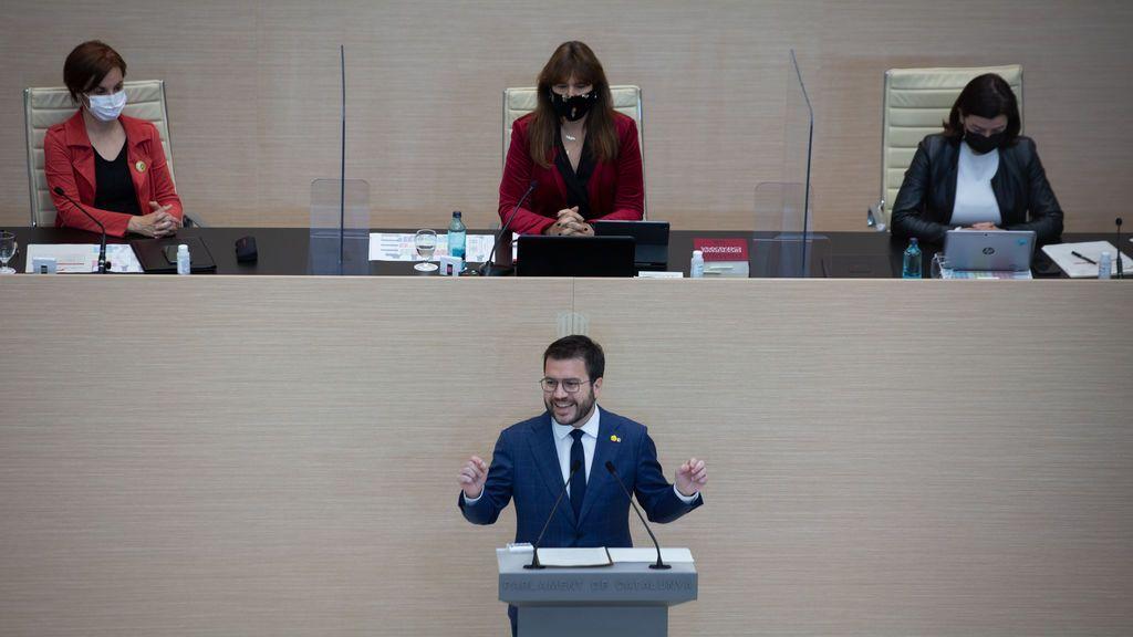 La amnistía y la autodeterminación centran el discurso de Aragonés, en busca del apoyo de Junts