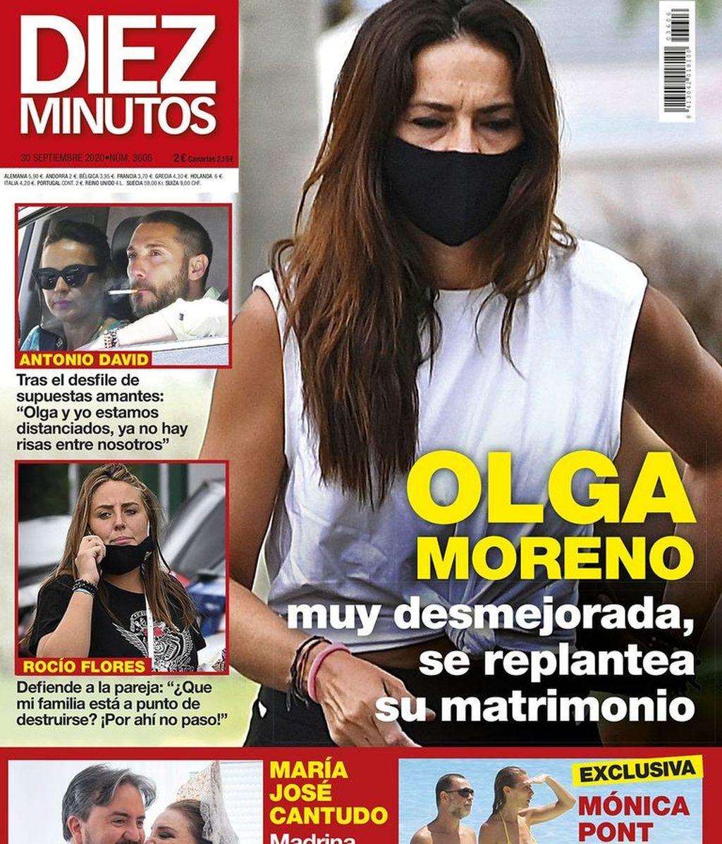 Olga Moreno, en la portada de Diez Minutos