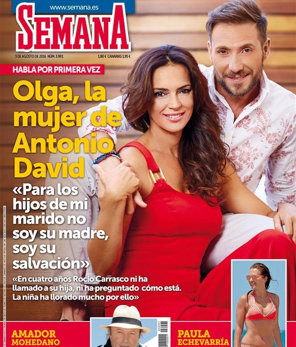 Olga Moreno apoya a su marido en las revistas