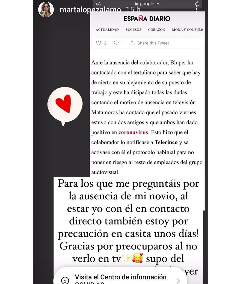 Marta López Álamo aclara cómo están ella y Kiko Matamoros