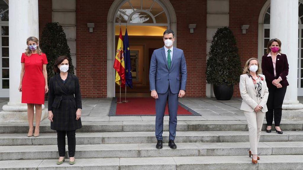 Sánchez destaca las cuatro vicepresidentas de su Gobierno