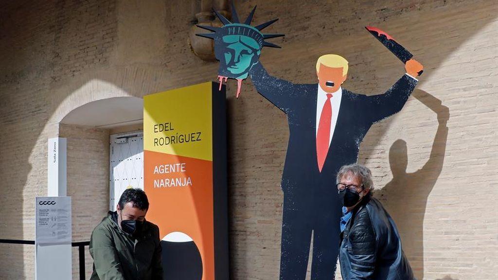 """Las caricaturas del """"artista más odiado por Trump"""" se exponen por primera vez como arte en un museo"""