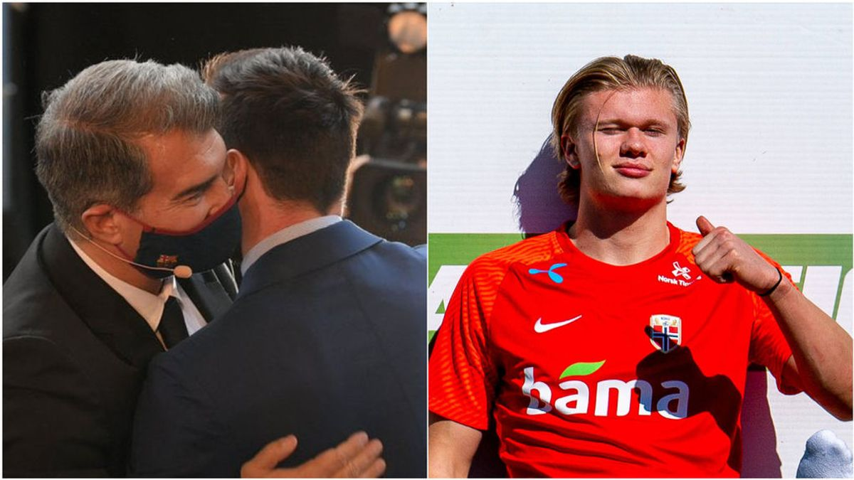 La propuesta de Laporta a Messi: renovarle, fichar a Haaland y contar con La Masía