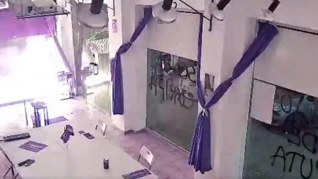 La sede de Podemos en Cartagena sufre un ataque con material explosivo