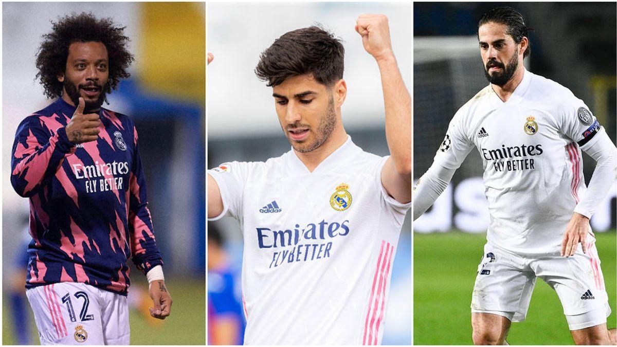 Marcelo, Isco  y Asensio responden piden paso a Zidane para el Liverpool y el Clásico