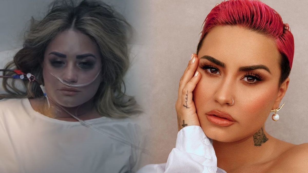 Demi Lovato recrea con imágenes la noche en la que sufrió su sobredosis y abusaron de ella en su último videoclip