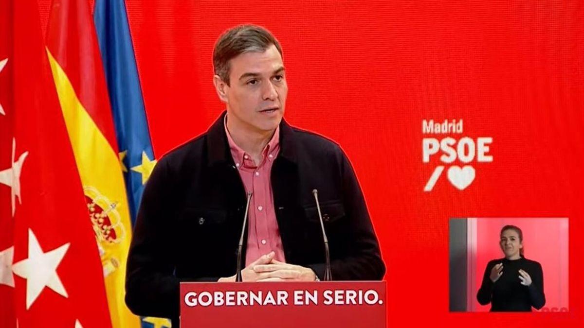 """Elecciones Madrid 2021: Sánchez, a Ayuso: """"Libertad es todo menos el desmadre de hacer circular el virus"""""""