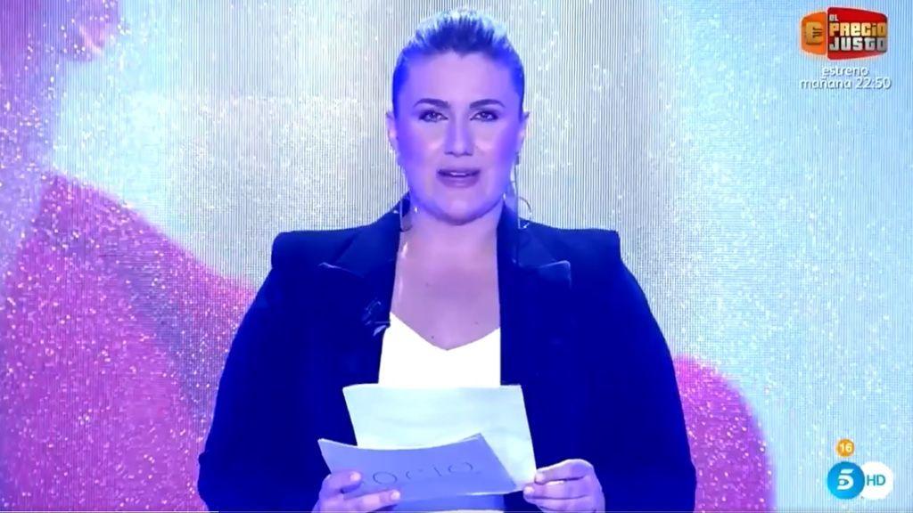 Carlota Corredera, en el especial de Rocío Carrasco