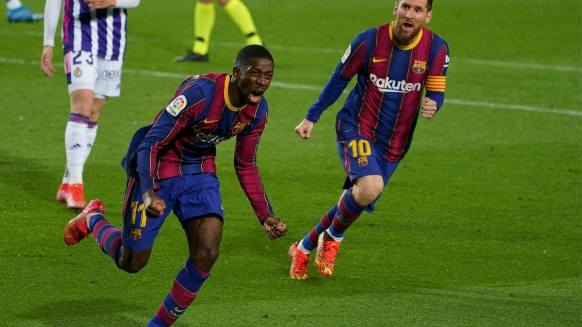 Dembéle salva in extremis al Barça ante el Valladolid (1-0)
