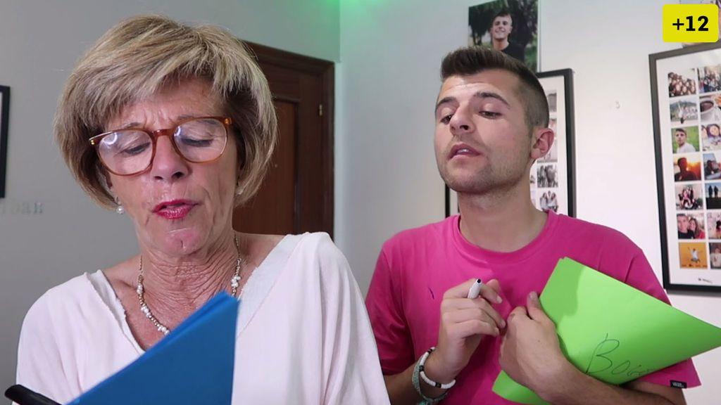 Iban García y su madre hacen a un test de inteligencia (2/2)