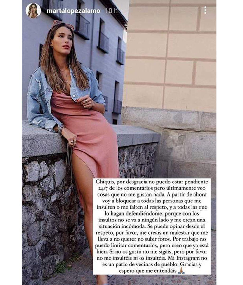 Marta López Álamo ha tomado una decisión drástica contra sus haters