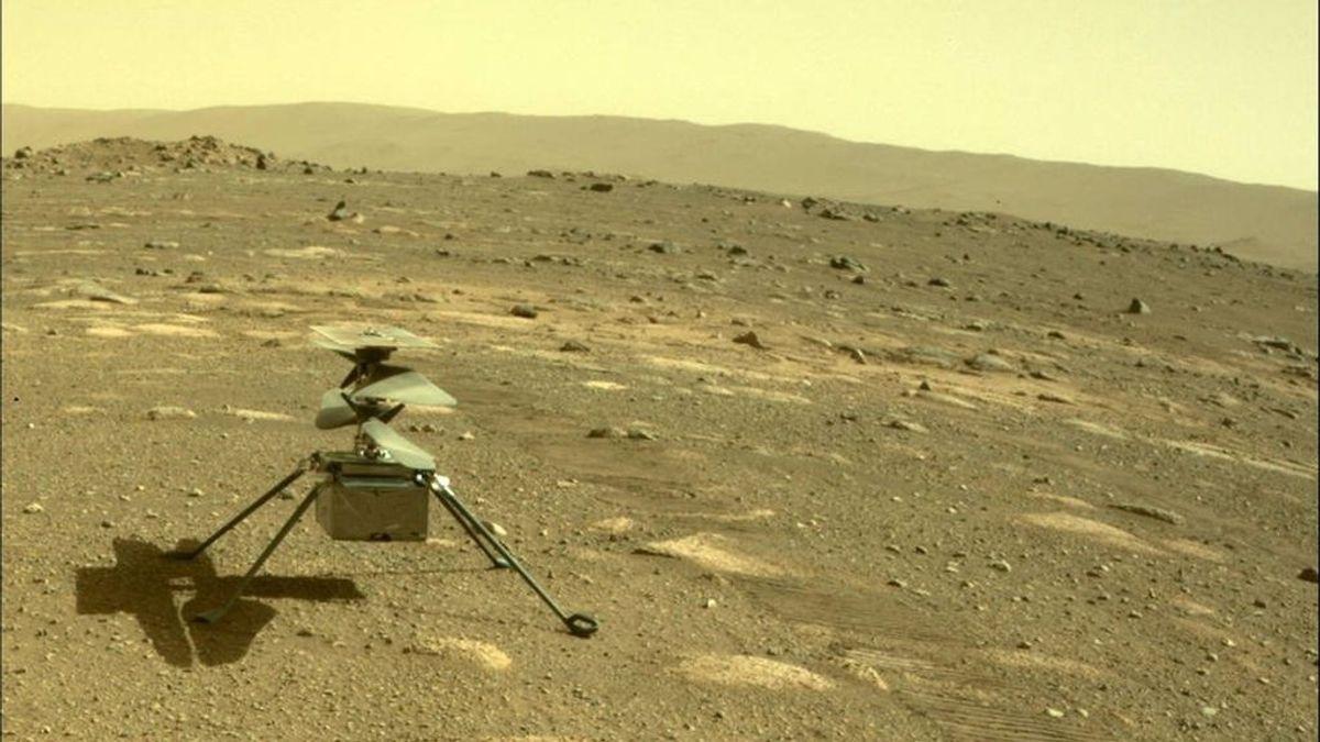 El helicóptero Ingenuity sobrevive a los 90º bajo cero de su primera noche sólo en Marte
