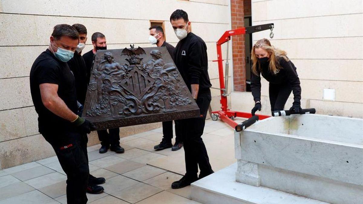 Trasladan el sarcófago de Blasco Ibañez al Cementerio Municipal de Valencia