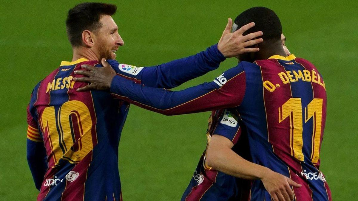 Dembelé está firmando una gran temporada en el Barcelona.