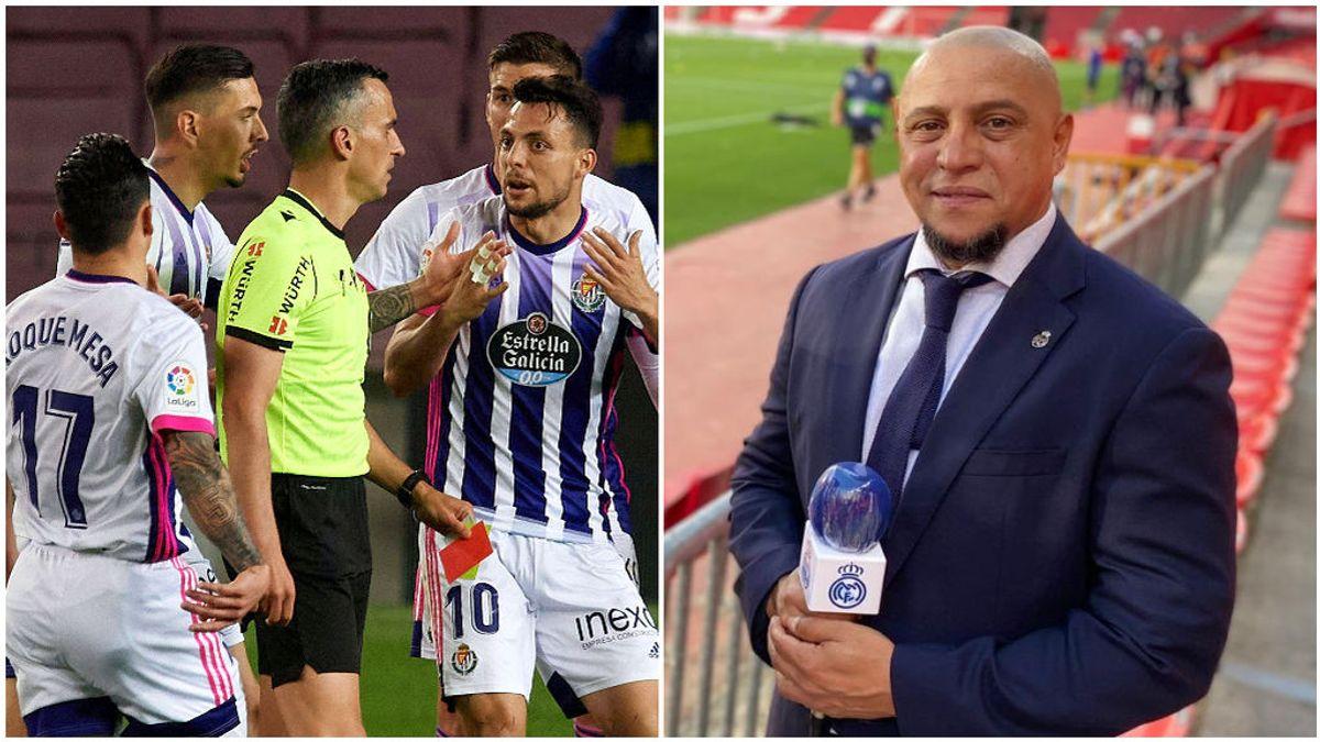 Roberto Carlos ironiza sobre el arbitraje del Barcelona - Valladolid.